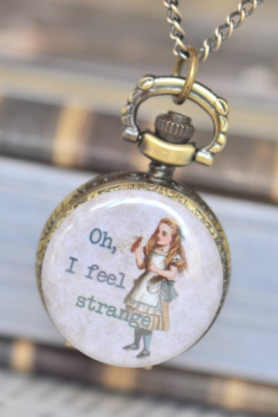 Oh I Feel Strange - Watch Necklace