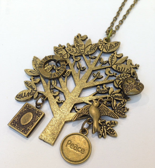 Way of Life Tree and Charms Necklace