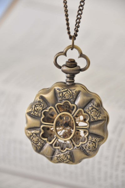 Queen Anne - Steampunk Mechanical Pocket Watch