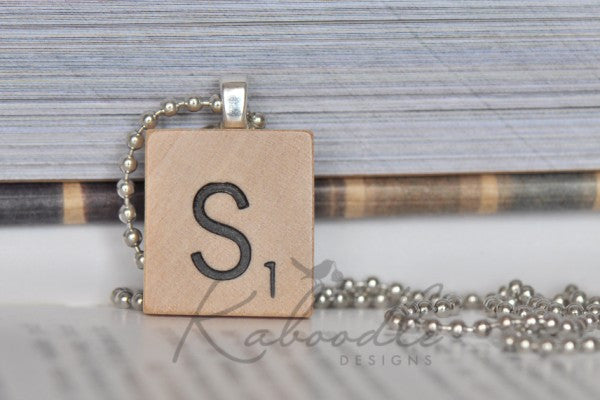 Scrabble Alphabet Necklace