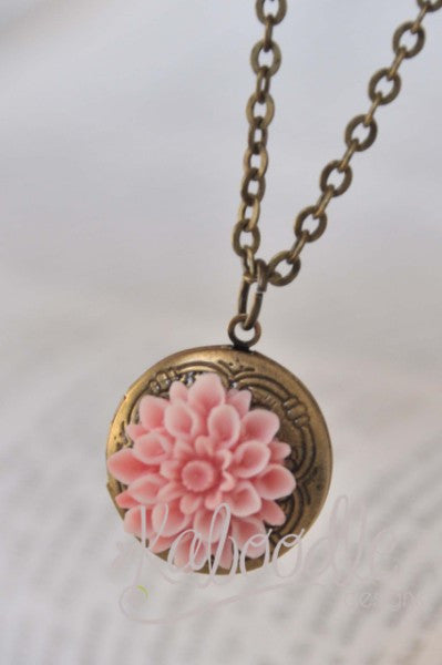 Summer Blossom in Pink - Locket Necklace