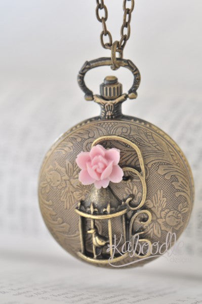 Sweet Little Bird - Pocket Watch Necklace
