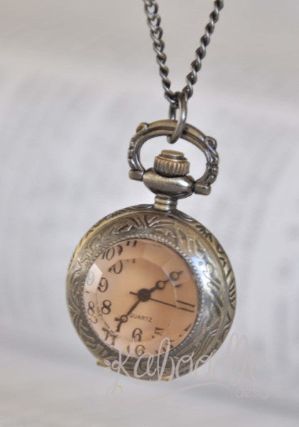 Through the Looking Glass - Pocket Watch Necklace