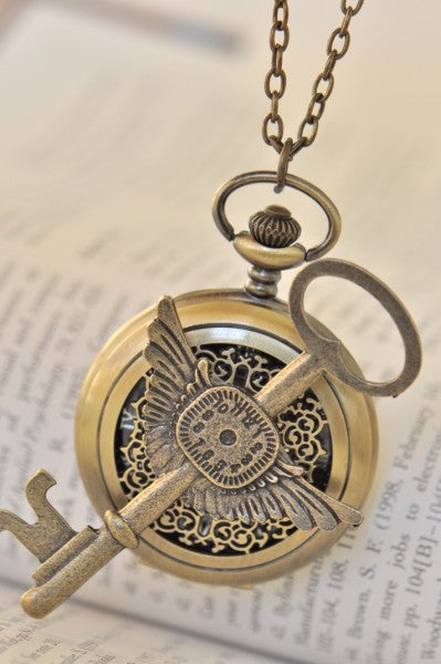Tick Tock - Steampunk Pocket Watch Necklace