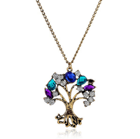 Embellished Tree Necklace