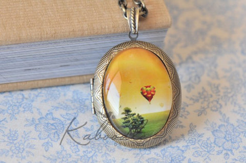 Up Up and Away - Large Oval Locket