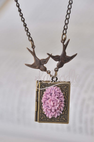 Velvet Dream - Book Locket Necklace