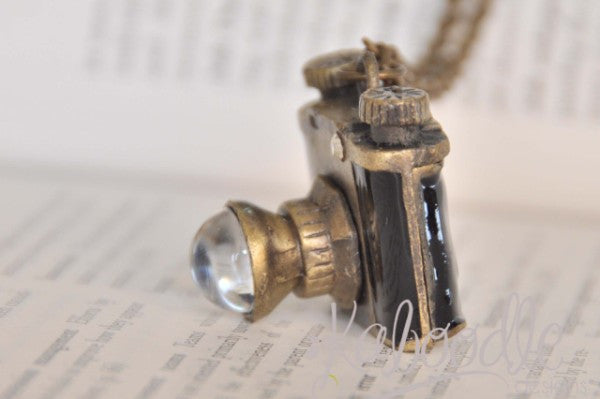 Vintage Inspired Camera Necklace