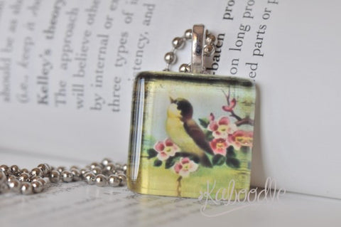 Whimsical Swallow - Glass Pendant