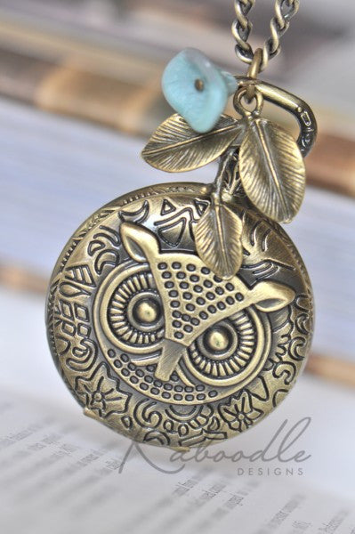 Wise Owl - Pocket Watch Necklace