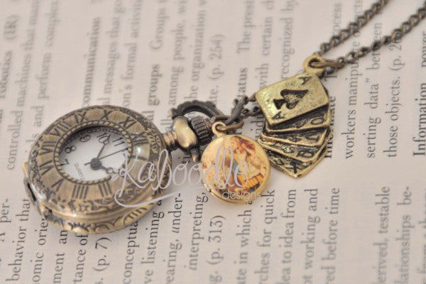 Wonderland - Pocket Watch Necklace