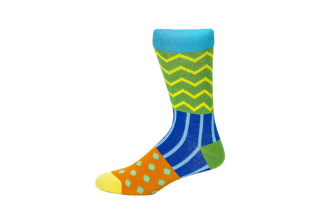 Novelty Fun Socks - Chevron
