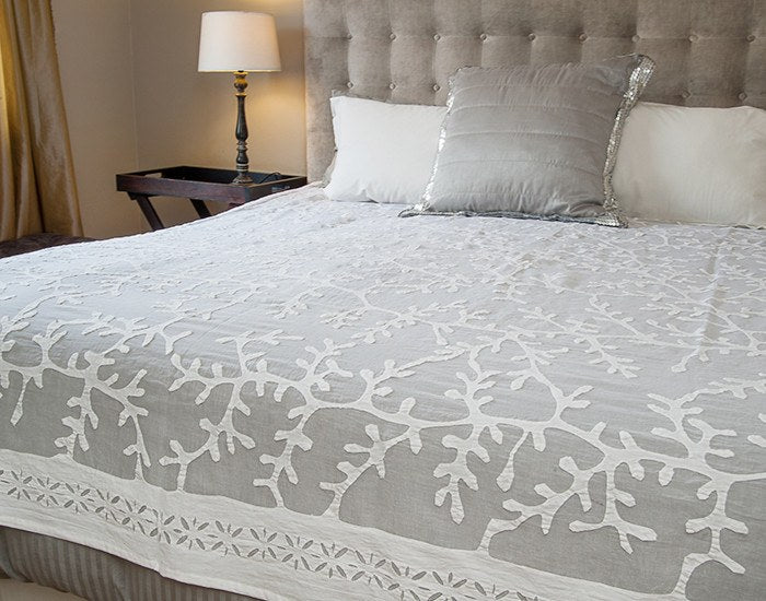 Appliqué Throw/Bed Cover : Coral Reef pattern
