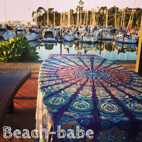 Mandala Tapestry Throw - Beach Babe