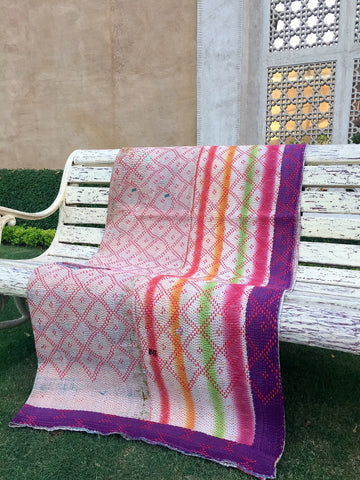 Kantha Quilt - VINTAGE COTTON - FUNFAIR