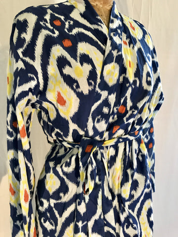 Cotton Gowns - Ikat Navy