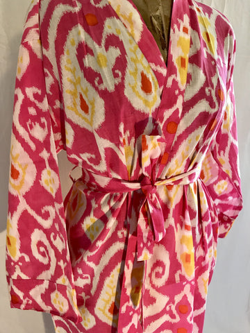 Cotton Gowns - Ikat Pink