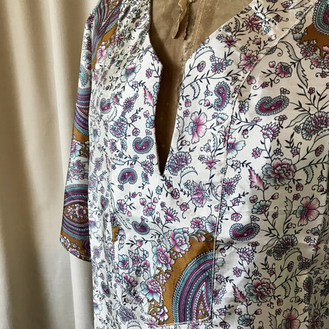 SILK TUNIC DRESS - Size M/L(12) - Untold Story Collection - Wild Paisley