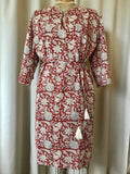 Tunic Dress, Cotton - Red Lilly