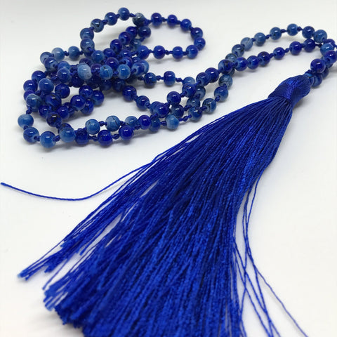 Tassel Necklace - Lapis