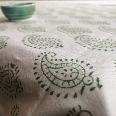Table Cloth - Green Paisley