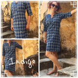 Tunic Dress, Cotton - INDIGO