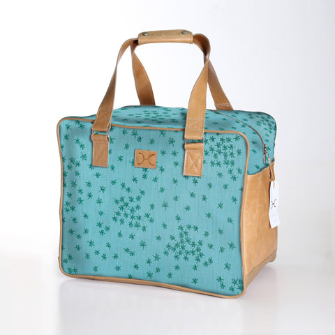 Thandana Large Weekender Bag - Spice - Emerald and Aqua
