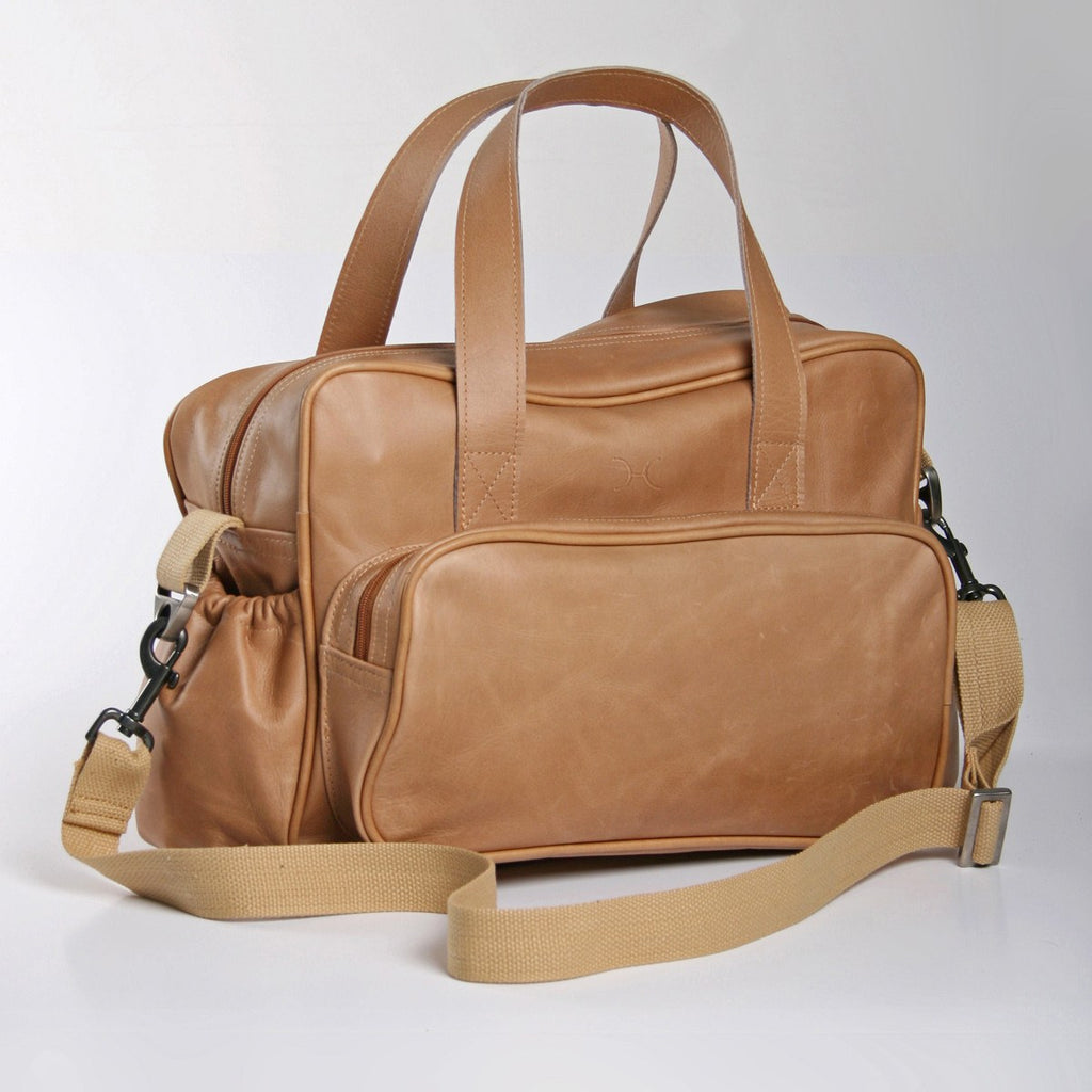Thandana Nappy Bag - leather - MADE TO ORDER