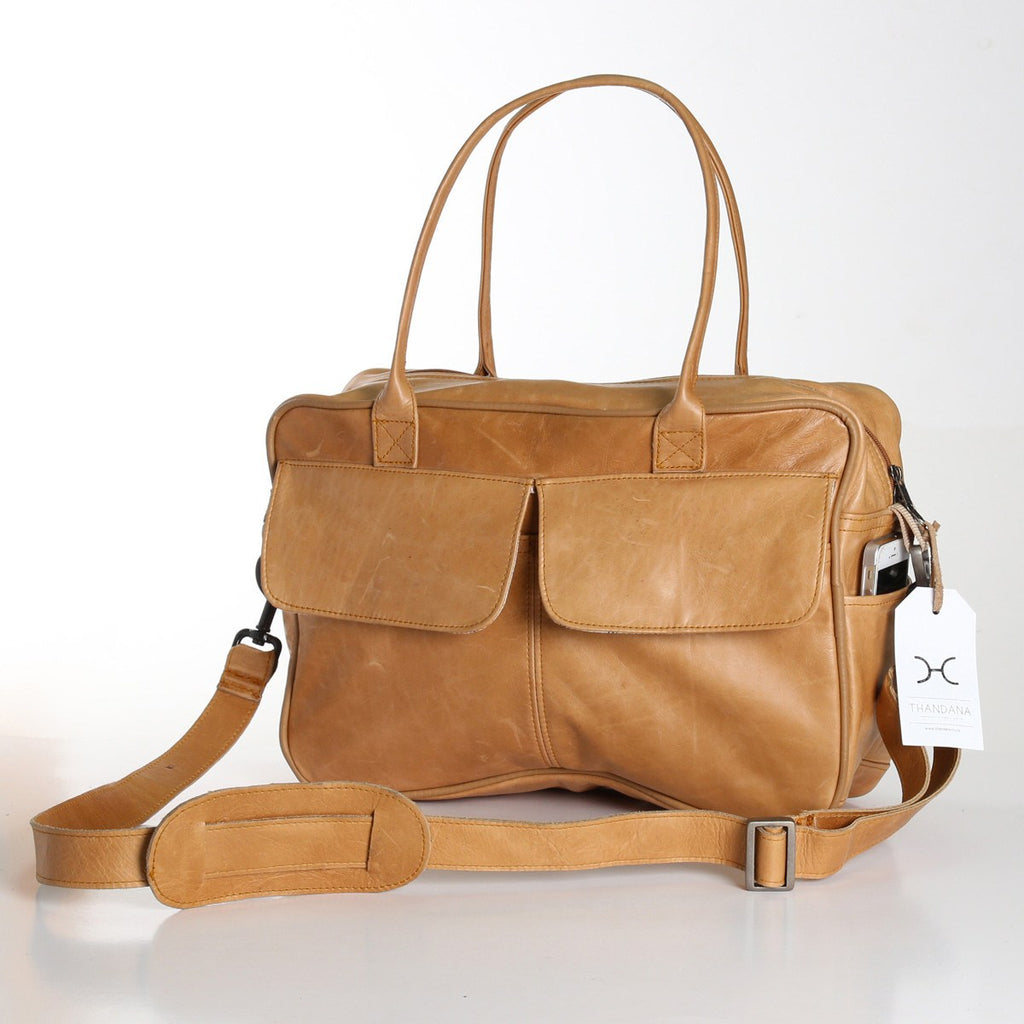 Thandana Briefcase - Leather - Hazelnut