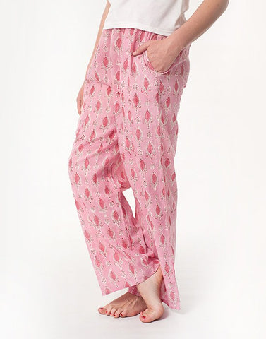 Cotton Drawstring Pants - Pink Palace