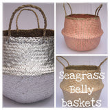 Belly Basket - Seagrass - Silver