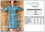 Tunic Dress, Cotton - Tiffany Teal