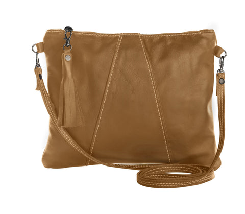 Thandana Croosover Sling - Leather Handbag - Hazelnut