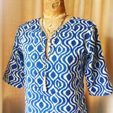 Tunic Dress, Cotton - Groovy Indigo