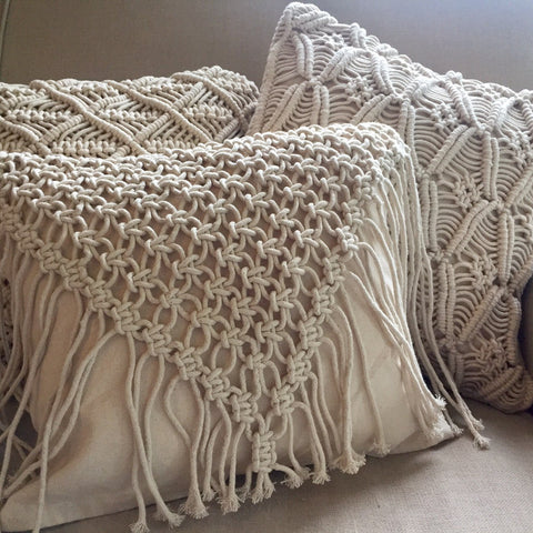Macrame Cushion Cover - Cowgirl