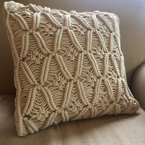 Macrame Cushion Cover - Cowboy