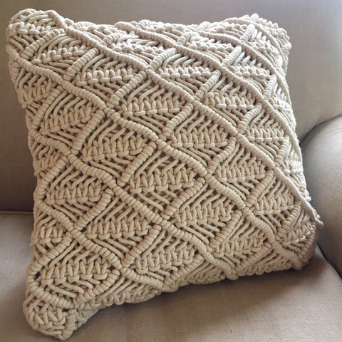 Macrame Cushion Cover - Mustang
