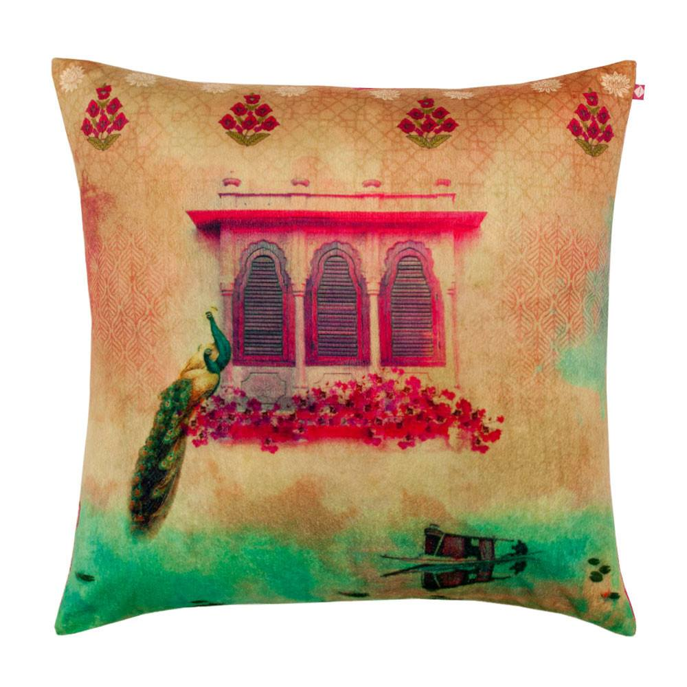 Cushion Cover - Peeping Peacock