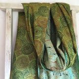 Silk Scarf - gorgeous greens and greeny blues 1G