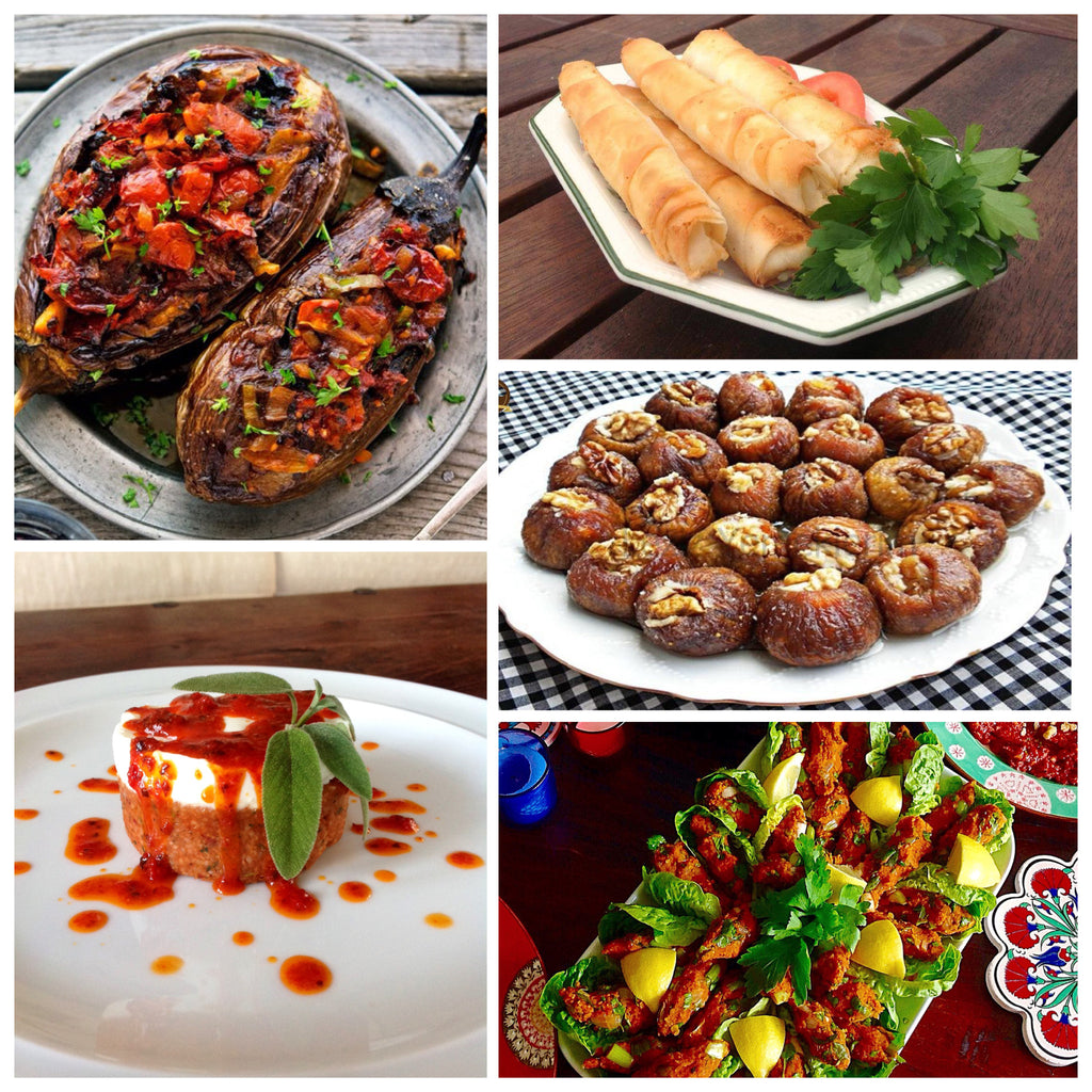 Vegetable dishes from the Middle East