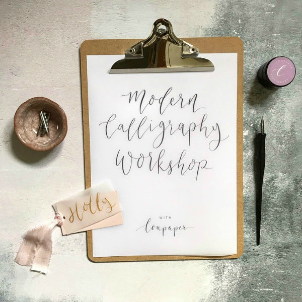 Christmas Themed, Modern Calligraphy Workshop for Beginners - afternoon course