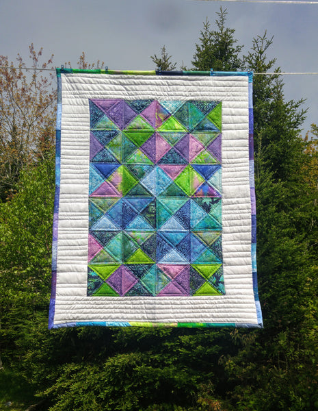 Tropical Batiks Lap or Crib Quilt