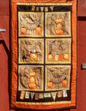 Cheeky Wee Pumpkins Quilted Wall Hanging