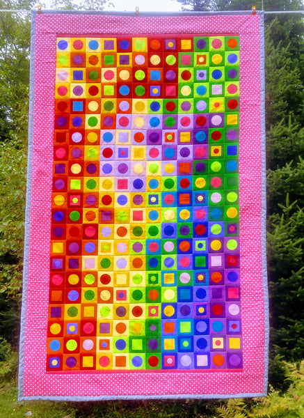 Mod Squad Polka Spots Lap Quilt - Fun and Modern
