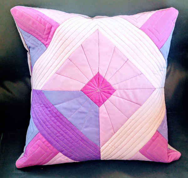 Quilted Pillow Cover - Amethyst Lavender Orchid Purple