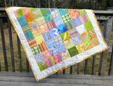 "Baby Quilt ""Ice Cream"" Baby Shower Gift or Porch Lap Quilt"