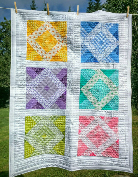 This 'N That Lap or Crib Baby Quilt - Fresh Colors!