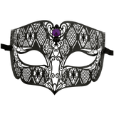 Burlesque-Boutique Men's Diamond Design Laser Cut Venetian Masquerade Mask