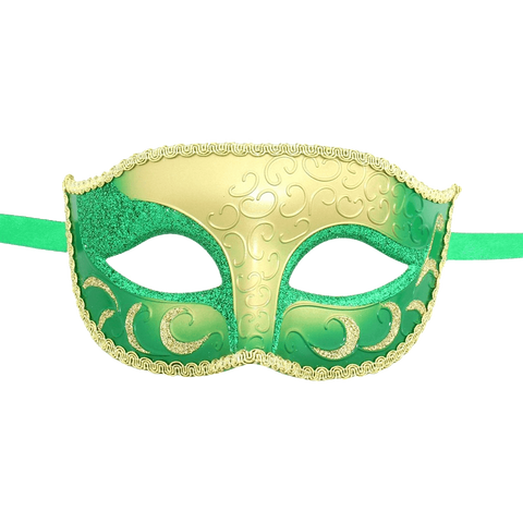 Burlesque-Boutique Sparkle Venetian Mardi Gras Multi Color Halloween Costume mask