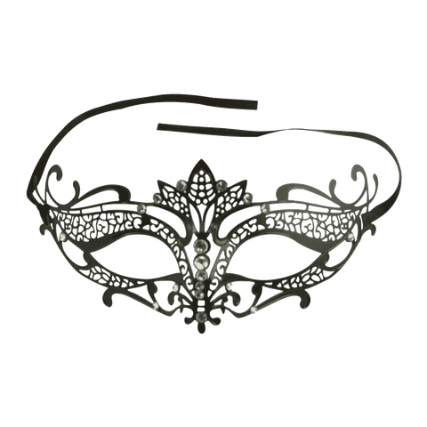 Burlesque-Boutique Women's Laser Cut Metal Tiara Venetian Pretty Masquerade Mask
